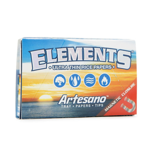 Elements Artesano 1 1/4 Rolling Paper w/ Tips & Tray - 50-Leaf Single Booklet - vapersandpapers.com