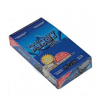 Juicy Jay's Blueberry 1 1/4 Rolling Paper - 24 Count Box - vapersandpapers.com