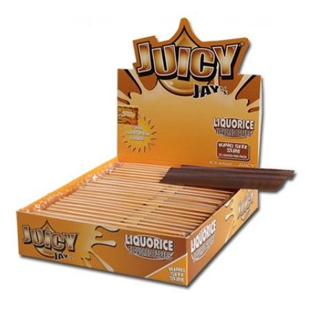 Juicy Jay's Liquorice Kingsize Slim Rolling Paper - 24 Count Box - vapersandpapers.com