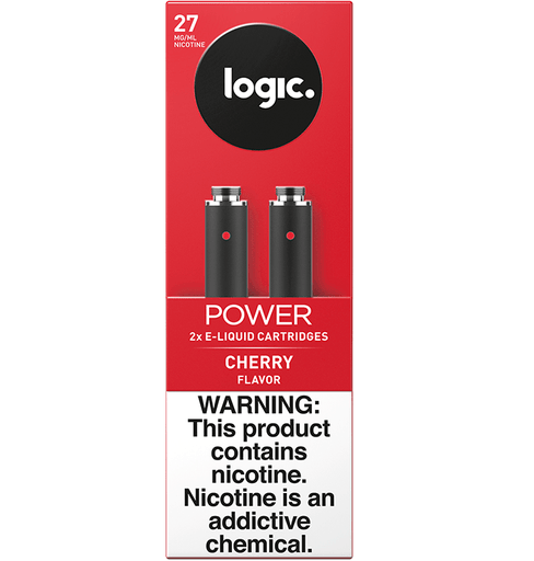 LOGIC Power Series Platinum Label Cartridge Refills - 2.4% Nicotine 27mg - Cherry (2 Pack)