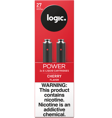 LOGIC Power Series Cartomizer Tanks - 2.4% (27mg) Nicotine - Cherry (2 Pack) - vapersandpapers.com