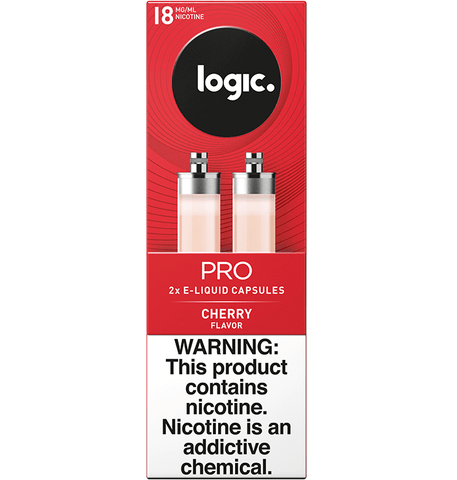 LOGIC Pro Platinum Label Capsule Cartridge Refills - 2.4% Nicotine 27mg - Cherry (2 Pack) - vapersandpapers.com