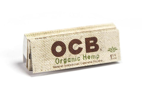 OCB Organic Hemp 1 1/4 Rolling Paper w/ Tips - 50-Leaf Single Booklet - vapersandpapers.com