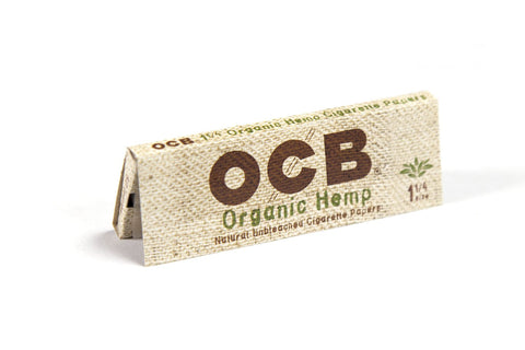 OCB Organic Hemp 1 1/4 Rolling Paper - 50-Leaf Single Booklet - vapersandpapers.com