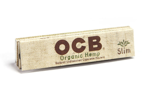 OCB Organic Hemp Kingsize Slim Rolling Paper w/ Tips - 32-Leaf Single Booklet - vapersandpapers.com