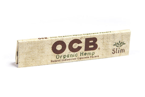 OCB Organic Hemp Kingsize Slim Rolling Paper - 32-Leaf Single Booklet - vapersandpapers.com