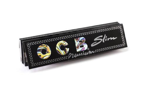 OCB Premium Kingsize Slim Rolling Paper w/ Tips - 32-Leaf Single Booklet - vapersandpapers.com
