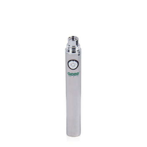 Ooze 650 Battery - 650mAh Battery (Chrome Silver) - vapersandpapers.com