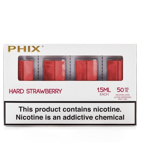 Phix Pod Tanks - Hard Strawberry #22 (4 Pack) - vapersandpapers.com