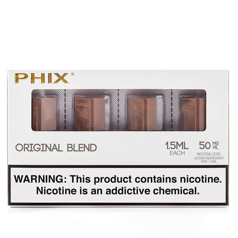 Phix Pod Tanks - Original Tobacco Flavor (4 Pack) - vapersandpapers.com