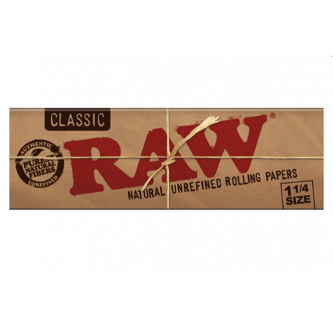 RAW Classic 1 1/4 Rolling Paper - 32-Leaf Single Booklet - vapersandpapers.com
