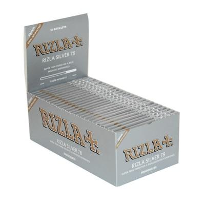 Rizla Silver 78 1 1/4 Rolling Paper - 50 Count Box - vapersandpapers.com