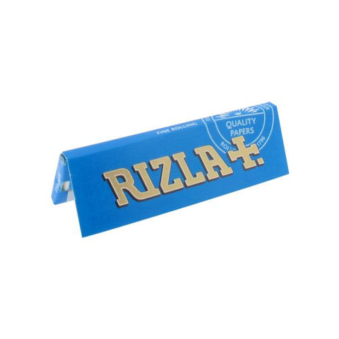 Rizla Blue Single Wide Rolling Paper - 50-Leaf Single Booklet - vapersandpapers.com