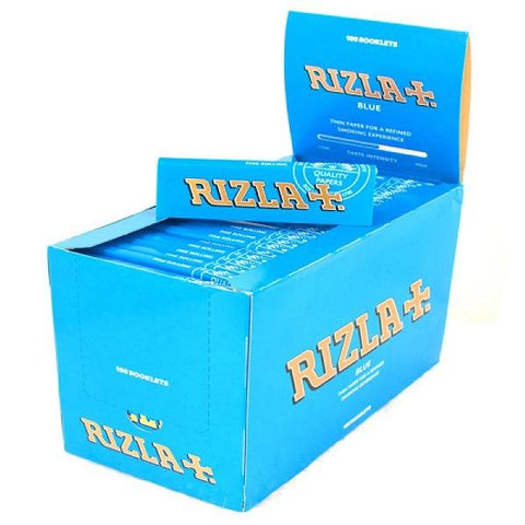 Rizla Blue Single Wide Rolling Paper - 100 Count Box - vapersandpapers.com