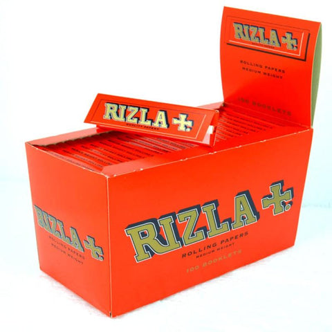 Rizla Red Single Wide Rolling Paper - 100 Count Box - vapersandpapers.com