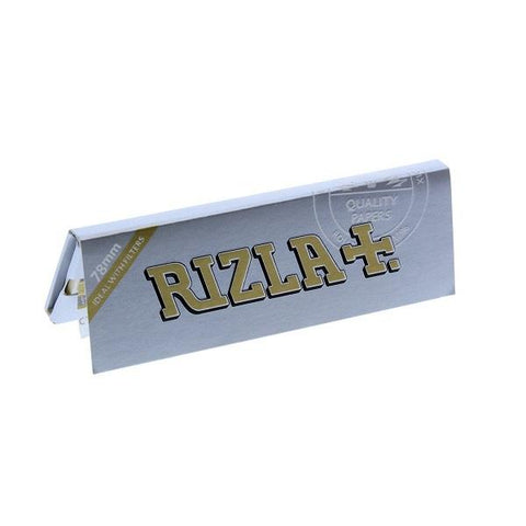 Rizla Silver 78 1 1/4 Rolling Paper - 50-Leaf Single Booklet - vapersandpapers.com