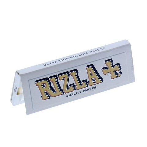 Rizla Silver Single Wide Rolling Paper - 50-Leaf Single Booklet - vapersandpapers.com