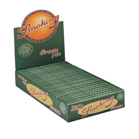 Smoking Green 1 1/4 Rolling Paper - 25 Count Box - vapersandpapers.com