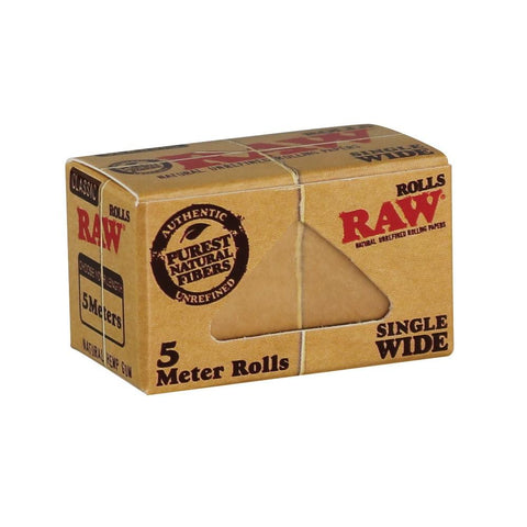 RAW Classic Single Wide 5 Meter Roll - 5 Meter Single Roll - vapersandpapers.com