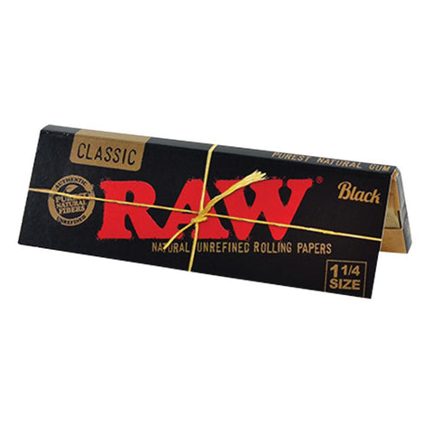 RAW Classic Black 1 1/4 Rolling Paper - 50-Leaf Single Booklet - vapersandpapers.com