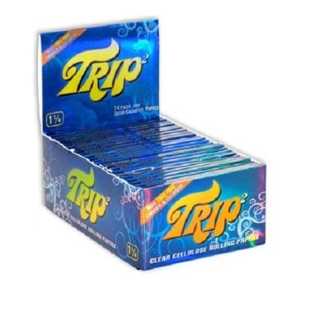 TRIP2 1 1/4 Clear Rolling Paper - 24 Count Box - vapersandpapers.com