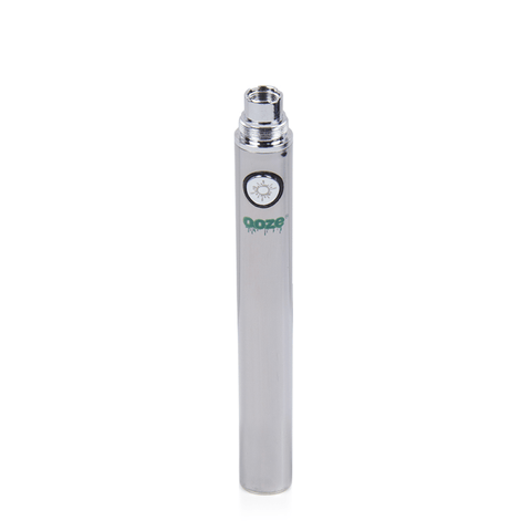 Ooze 900 Battery - 900mAh Battery (Chrome Silver) - vapersandpapers.com
