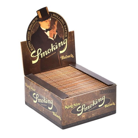 Smoking Brown Kingsize Rolling Paper - 50-Count Box - vapersandpapers.com