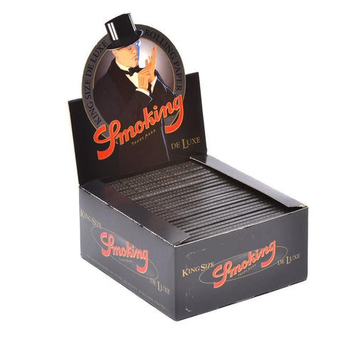 Smoking Deluxe Kingsize Rolling Paper - 50-Count Box - vapersandpapers.com