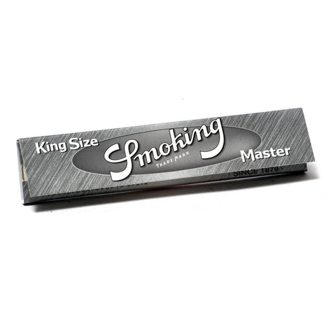 Smoking Master Silver Kingsize Rolling Paper - 33-Leaf Single Booklet - vapersandpapers.com