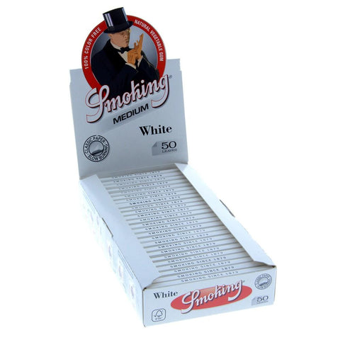 Smoking White 1 1/4 Rolling Paper - 25 Count Box - vapersandpapers.com