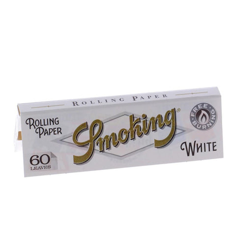 Smoking White Single Wide Rolling Paper - 60-Leaf Single Booklet - vapersandpapers.com