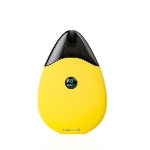 Suorin Drop Pod Vape Device Kit - Refillable Pod Vaporizer (Yellow) - vapersandpapers.com