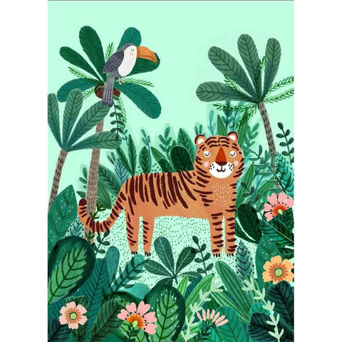 Petit Monkey – Postkarte TIGER / WILDHOOD