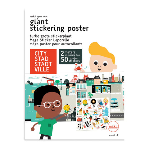Mega Stickerposter STADT für Kinder // WILDHOOD store