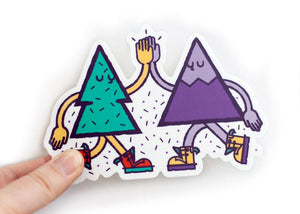 MOUNTAIN TREE FRIENDS Vinyl Sticker