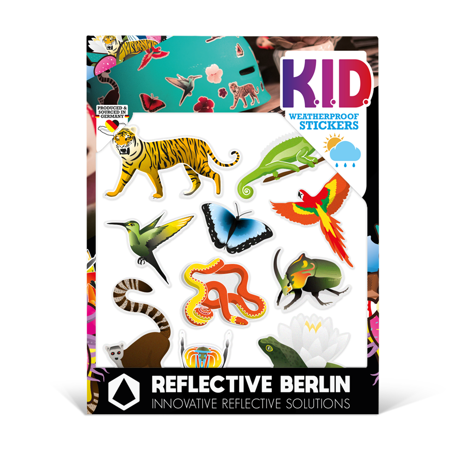 Reflektierende Sticker KID Jungle
