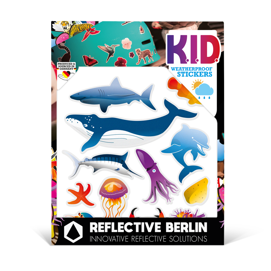 Reflektierende Sticker KID Maritime