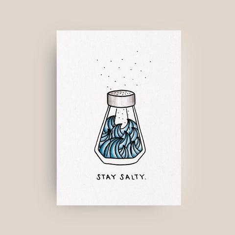 Pia Opfermann – Postkarte STAY SALTY / WILDHOOD store