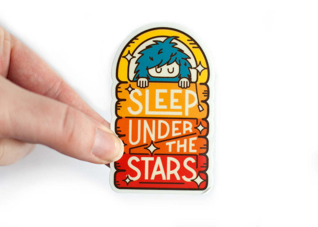 Ello There SLEEP UNDER THE STARS Sticker KLEIN / WILDHOOD store