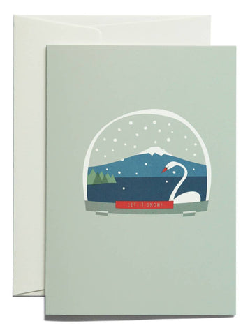 PLEASED TO MEET: LET IT SNOW Klappkarte zu Weihnachten / WILDHOOD store