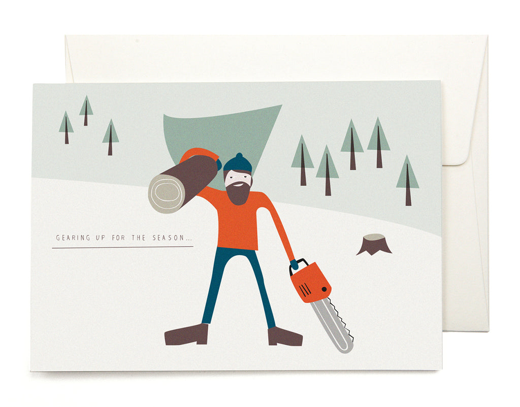 PLEASED TO MEET: LUMBERJACK Klappkarte zu Weihnachten / WILDHOOD store
