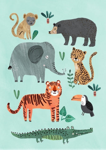 PETIT MONKEY Postkarte WILD ANIMALS / WILDHOOD store