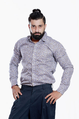 MEN'S FLORAL PRINTED SHIRT