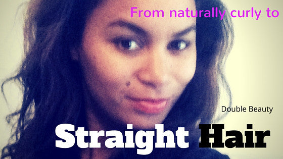 VIDEO: Straighten naturally curly hair