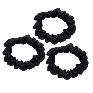 SILK Scrunchie Black 3-Pack