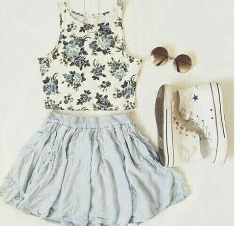 summer dress and converse
