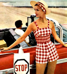 1950s Gingham Playsuit