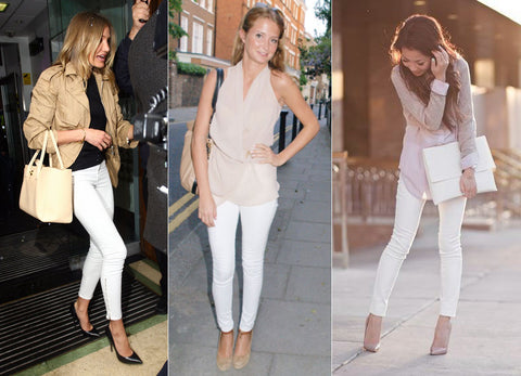 white jeans in summer