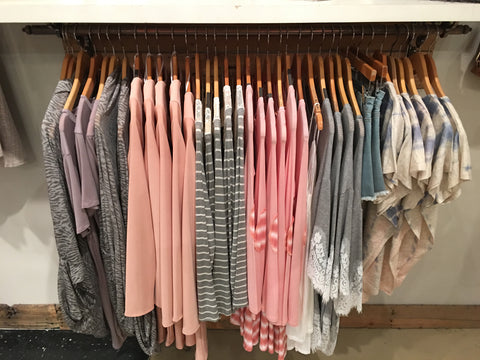 pink and grey boutique clothing