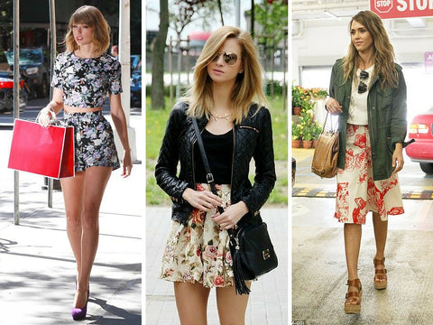 floral celebrity street style